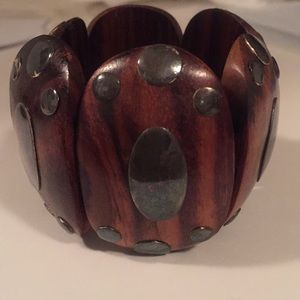 Jewelry - Wood and Silver Bracelet Bought in Bali